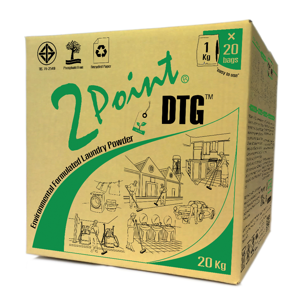 environmental formulated powder detergent 2POINT DTG