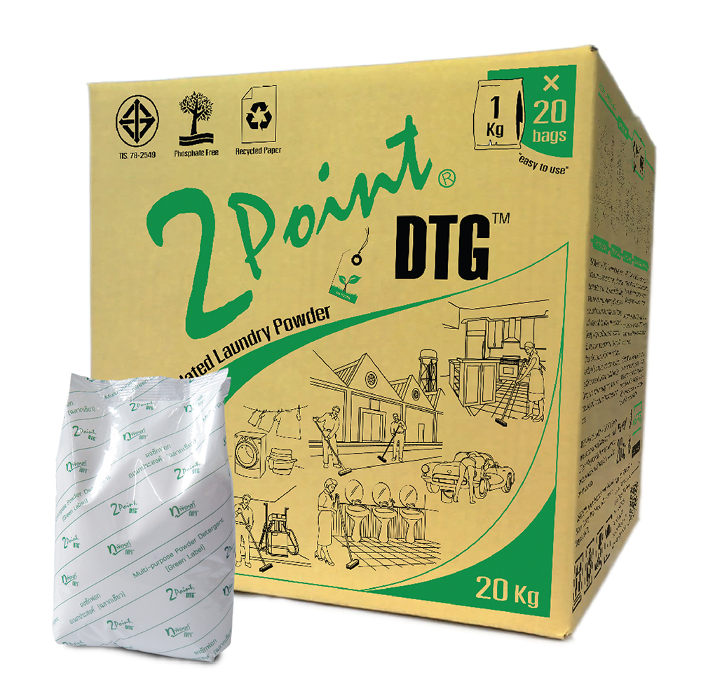 environmental formulated powder detergent 2POINT DTG wP