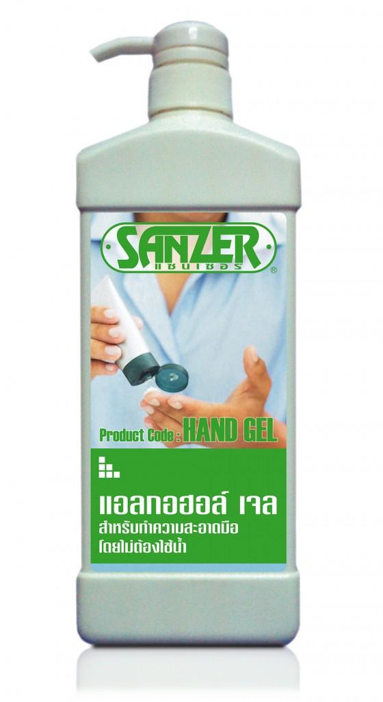 alcohol gel hand sanitiser SANZER HG